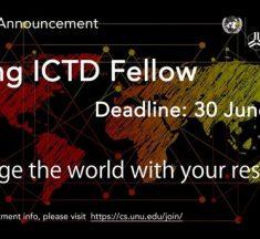 Bourses de recherche pour les jeunes technologies de l'information et de la communication et développement (ICTD) 2019