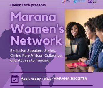 Marana Women's Network Digital Expert Talks 2021 pour les femmes entrepreneures africaines